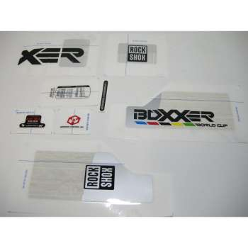 Decal Kit Boxxer WC - Withe Fork